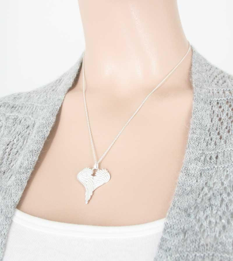 Peaceful Folded Angel Wings Necklace - woot & hammy