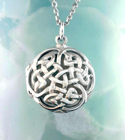 Celtic Knot Lattice Locket Necklace - woot & hammy