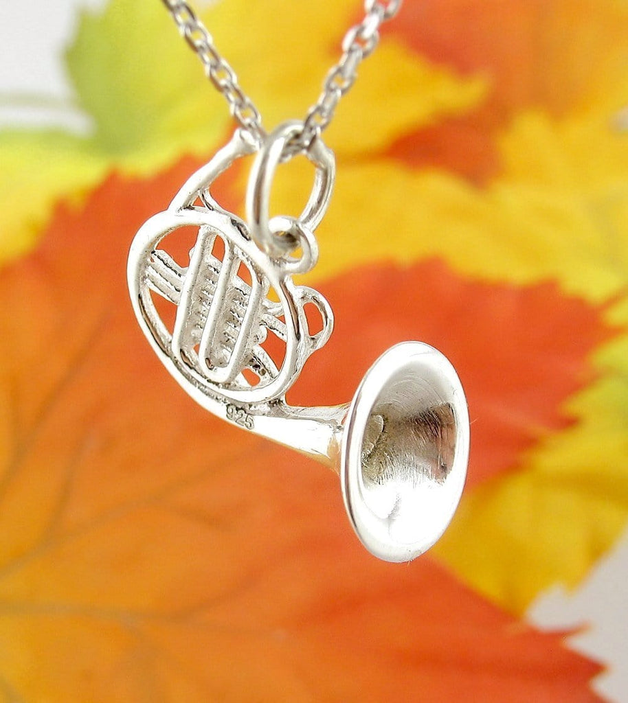 Detailed Miniature French Horn Necklace - woot & hammy