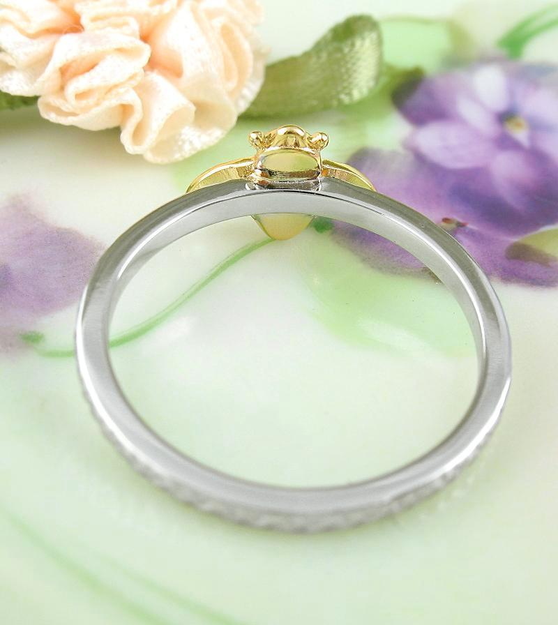Gold-Plated Bumble Bee Ring With Rustic Silver Band | woot & hammy thoughtful jewelry