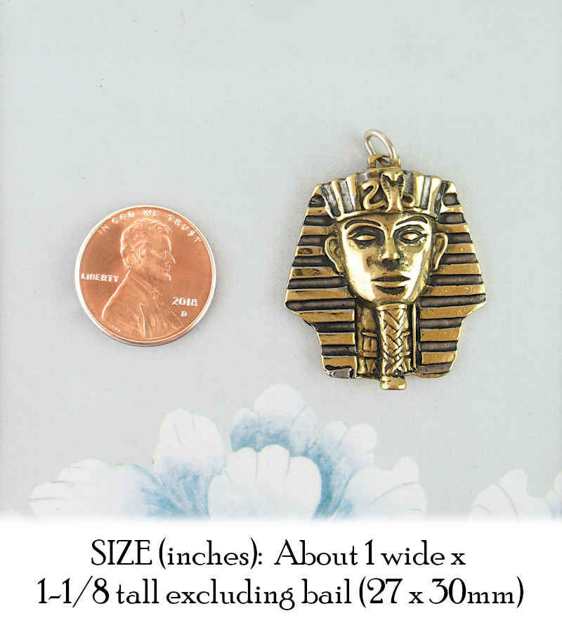 Mask of King Tut Pendant in Pewter with Gold Plating | woot & hammy