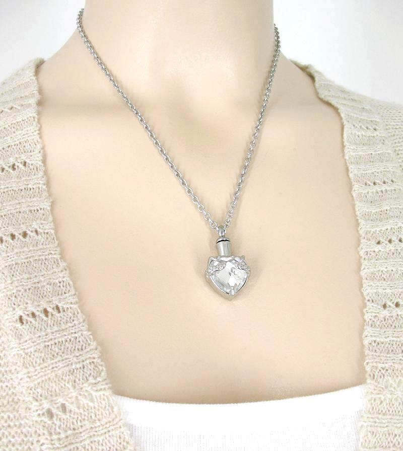 Crystal Heart Memorial Urn Necklace - woot & hammy