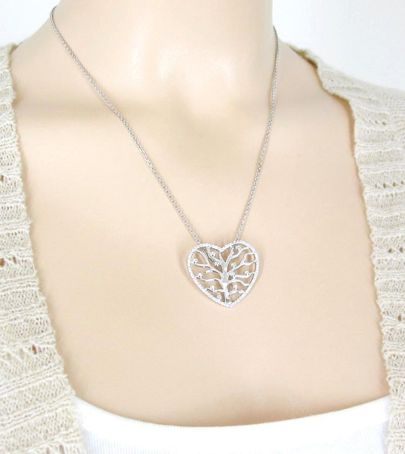Heart-Shaped Tree of Life Necklace with Crystals - woot & hammy