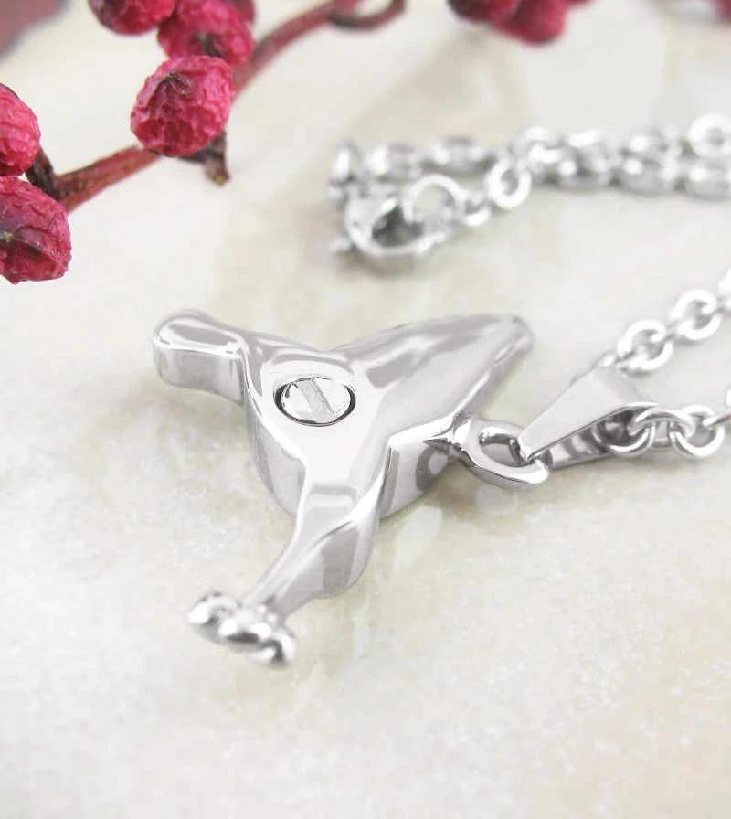 Hummingbird With Flower Urn Necklace – Stainless Steel | woot & hammy thoughtful jewelry