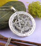 I am the Beauty of the Green Earth Moon Pentacle Pendant