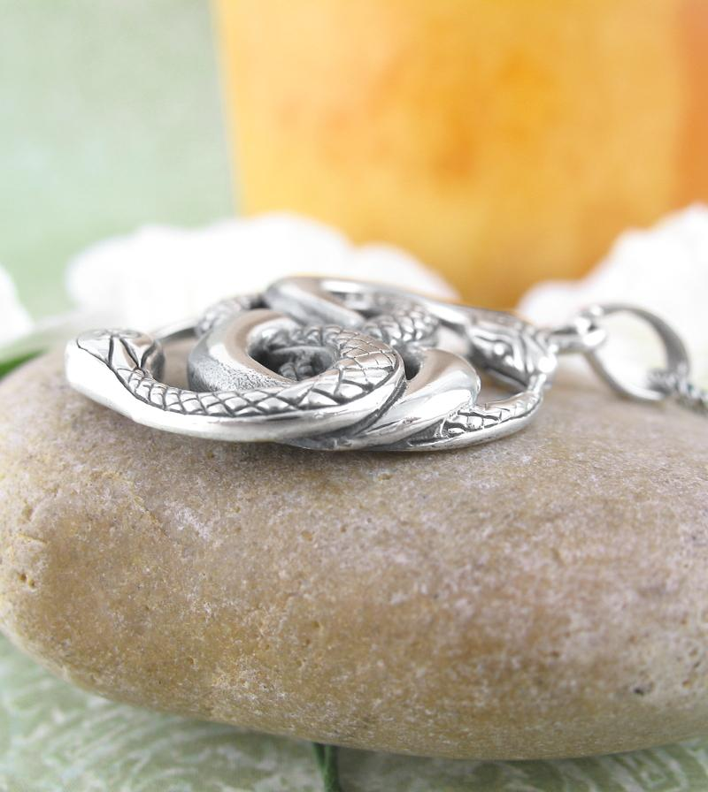 Knotted Double Ouroboros Snake Necklace | woot & hammy thoughtful jewelry