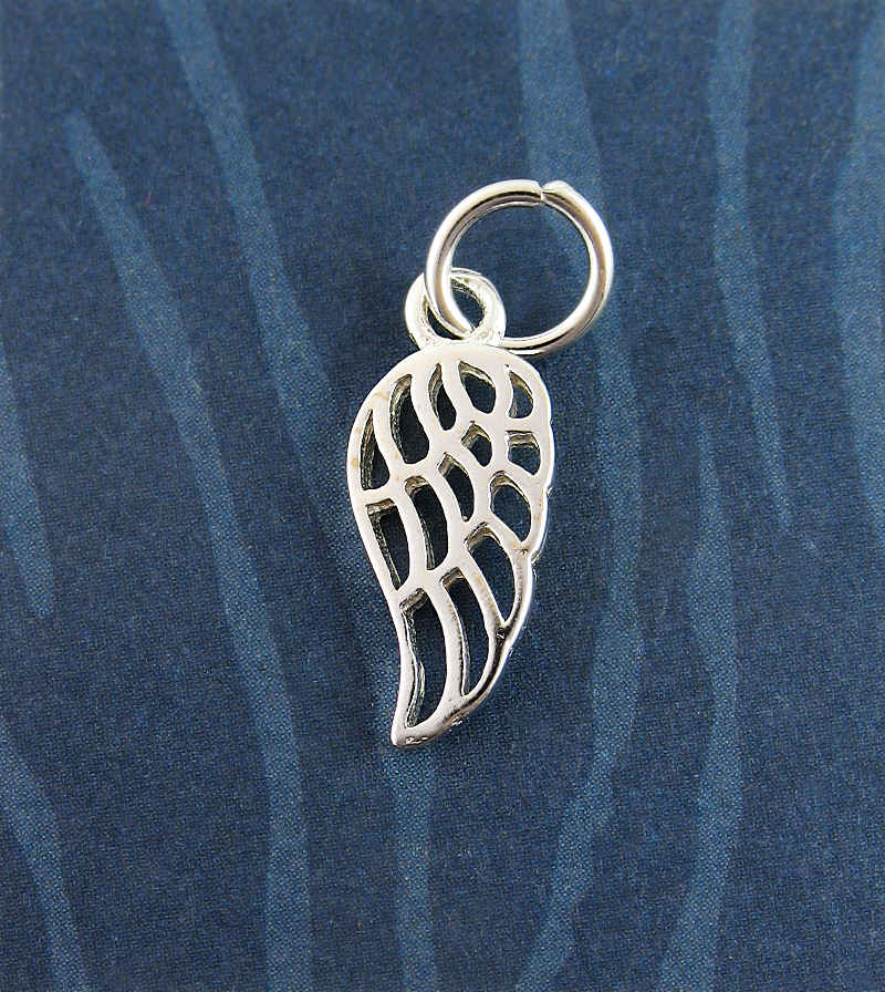 Lacy Angel Wing Charm / Pendant | Woot & Hammy