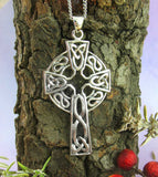 Large Celtic Cross Pendant with Knots