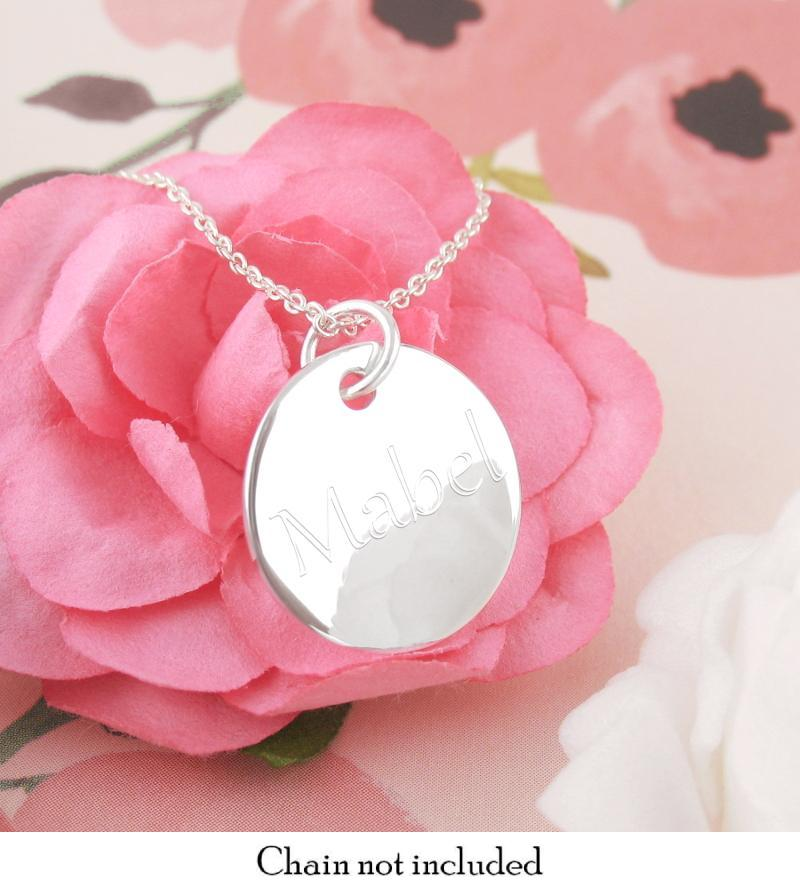 Engravable Circle Pendant Necklace | woot & hammy thoughtful jewelry