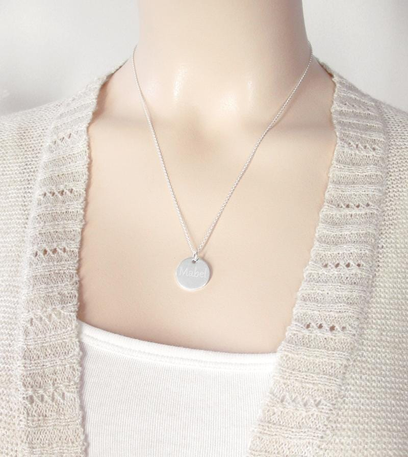 Round Engravable Pendant Necklace | woot & hammy thoughtful jewelry