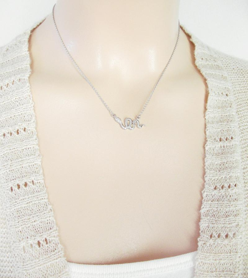 Sinuous Horizontal Snake Necklace | woot & hammy thoughtful jewelry