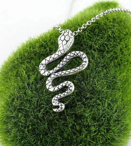 Benevolent Winding Snake Necklace - woot & hammy