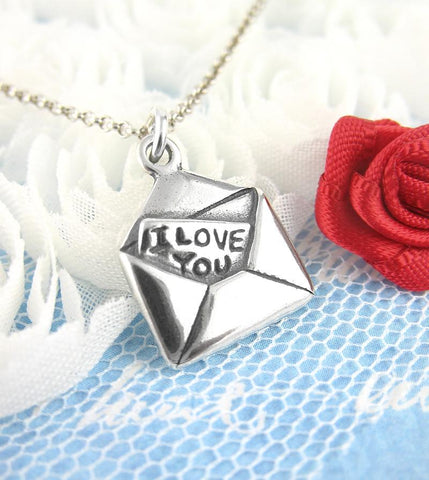 Love Letter Necklace with 'I Love You' Message | woot & hammy thoughtful jewelry