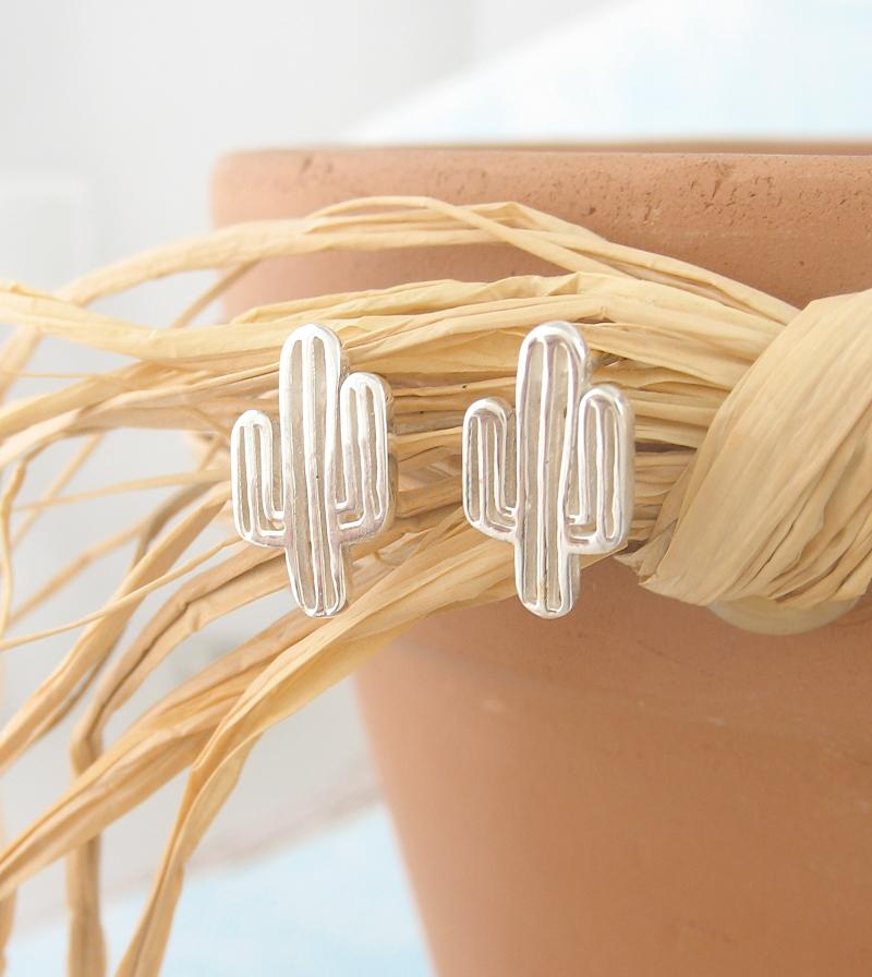 Miniature Saguaro Cactus Post Earrings | woot & hammy thoughtful jewelry