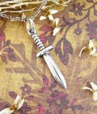 Tiny Ceremonial Athame Necklace Wiccan Wiccan Pagan Dagger Knife Magick Altar Sterling Silver