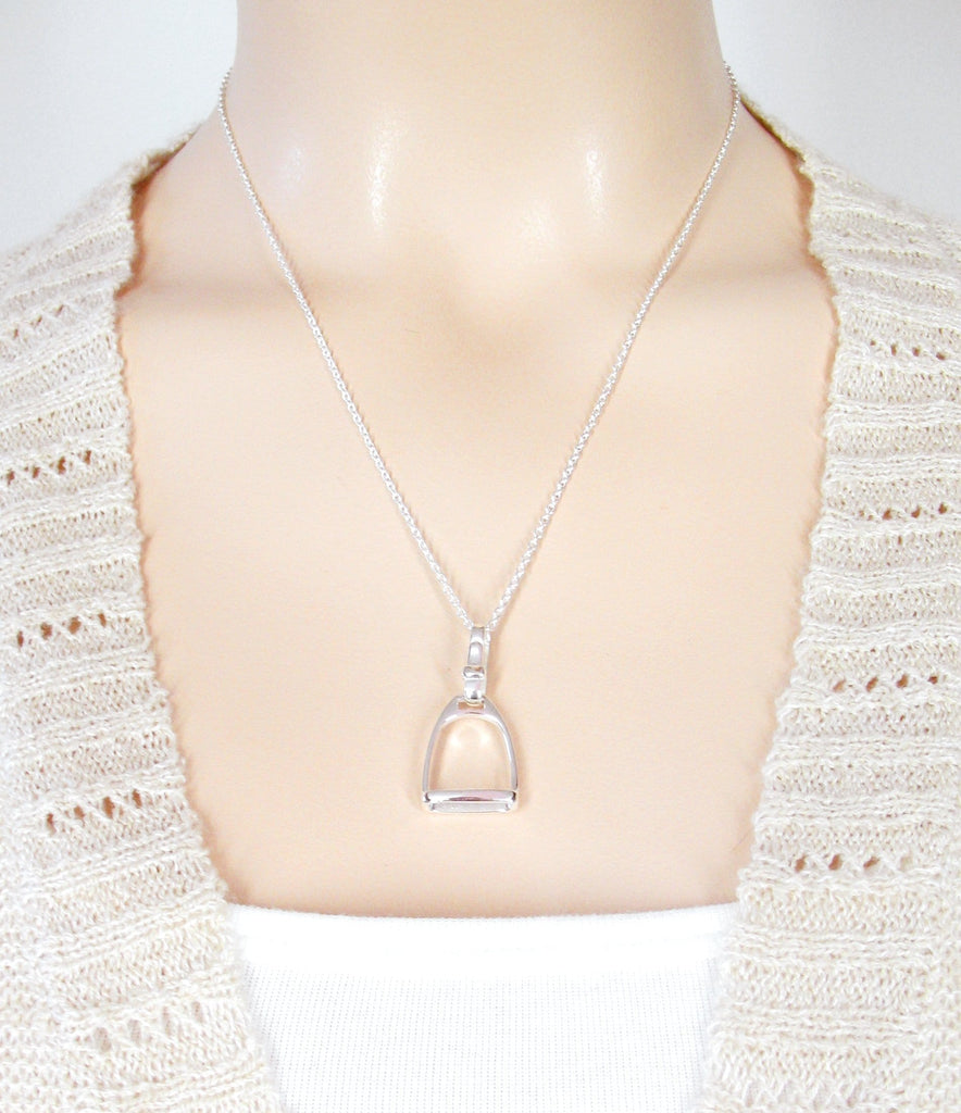 Horse Lover's Miniature English Stirrup Necklace | woot & hammy thoughtful jewelry
