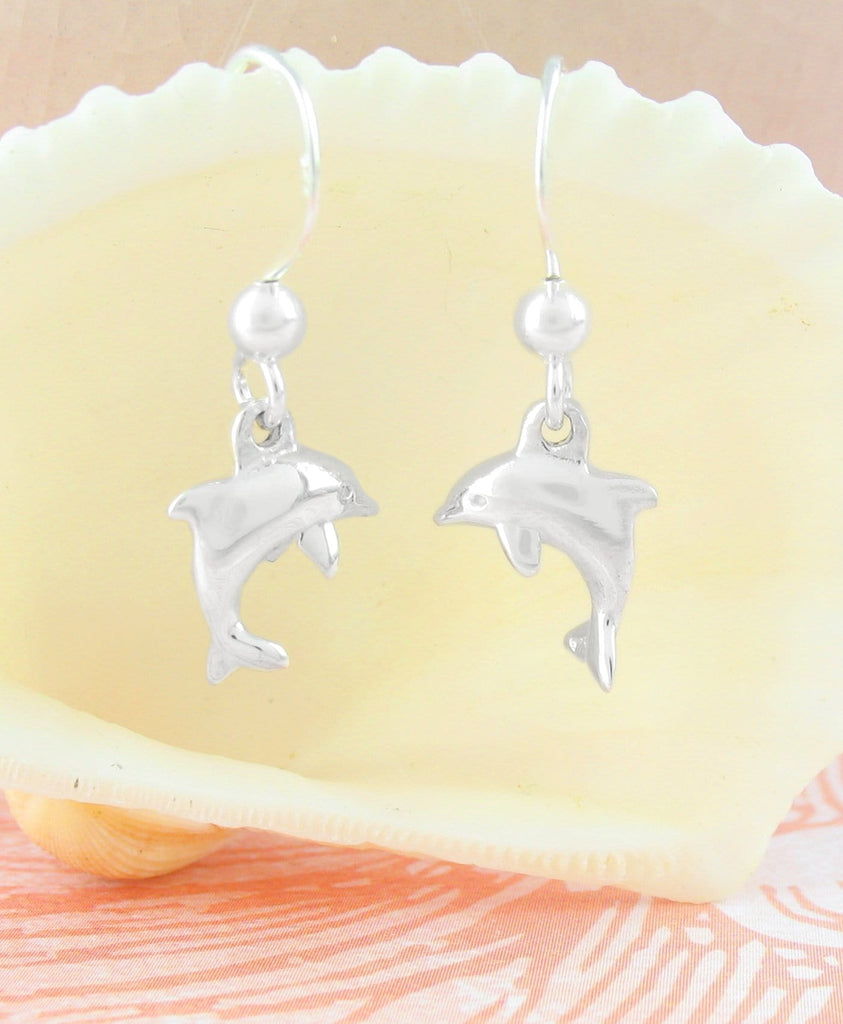Miniature Leaping Dolphin Hook Earrings | woot & hammy thoughtful jewelry