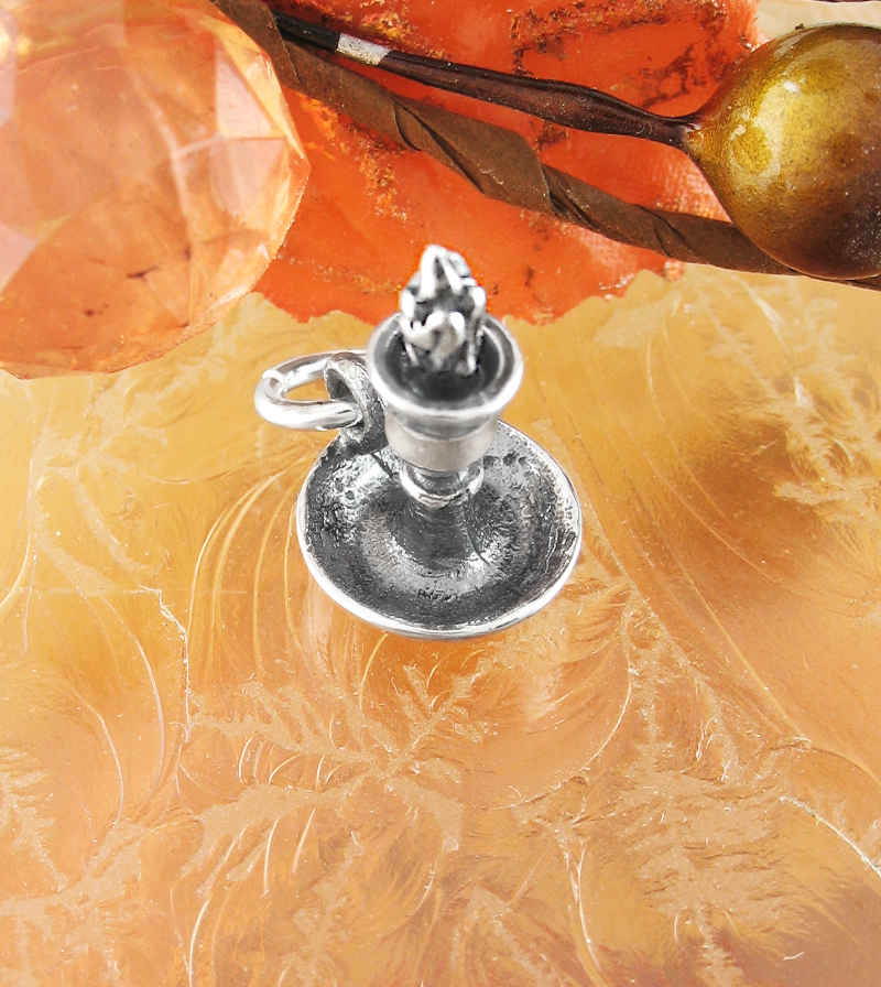 Miniature Witch's Chamberstick Candle and Holder Charm | Woot & Hammy