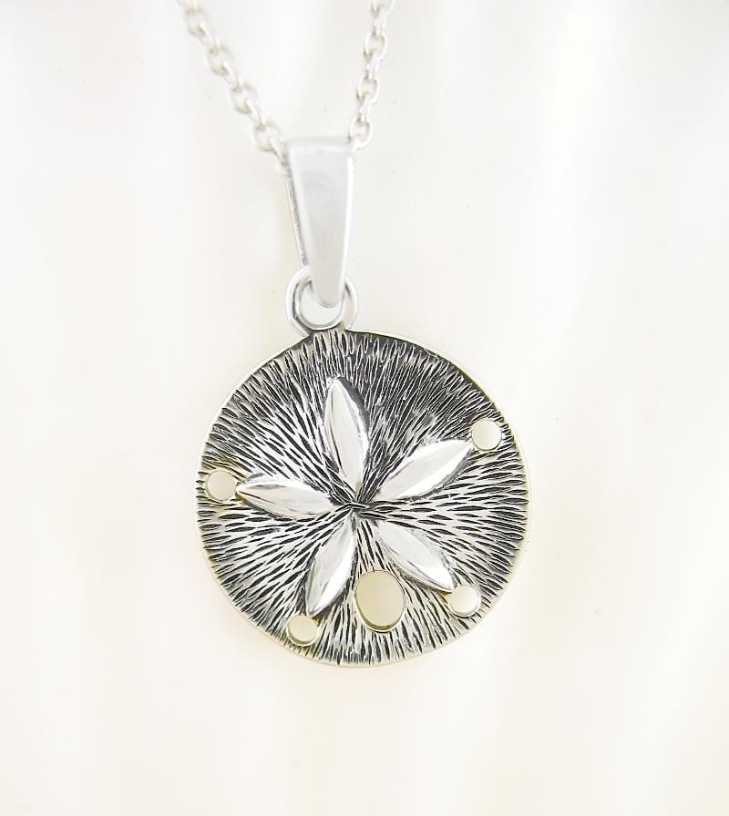Miniature Sand Dollar Necklace - woot & hammy