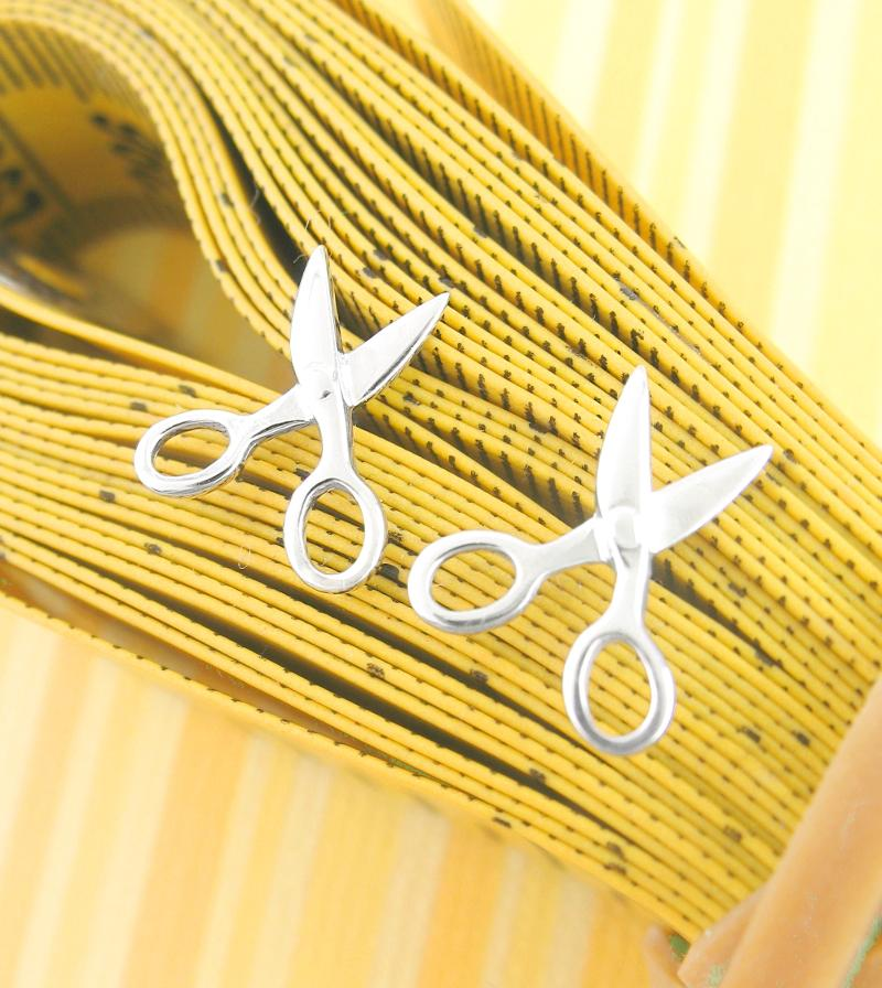 Scissors Post Earrings Sewing Tailor Seamstress Dressmaker Gift Sterling Silver