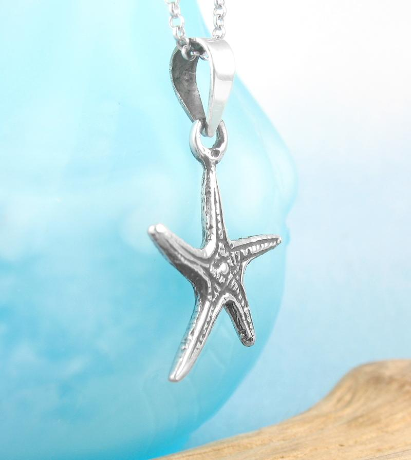 Miniature Starfish or Sea Star Necklace | woot & hammy thoughtful jewelry