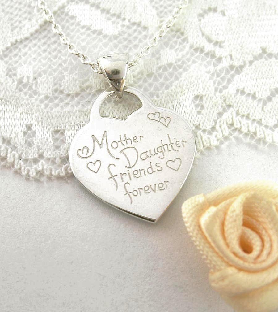 Mother Daughter Friends Forever Heart Tag Necklace - woot & hammy