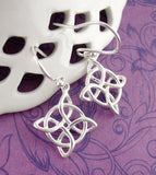 Witch's Knot Dangle Earrings Sterling Silver