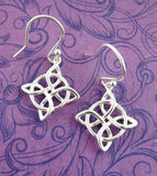 Four-Pointed Celtic Knot Earrings with Circle - woot & hammy