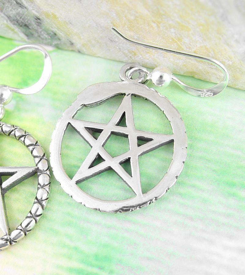 Pentacle Earrings with Ouroboros Serpent | woot & hammy thoughtful jewelry