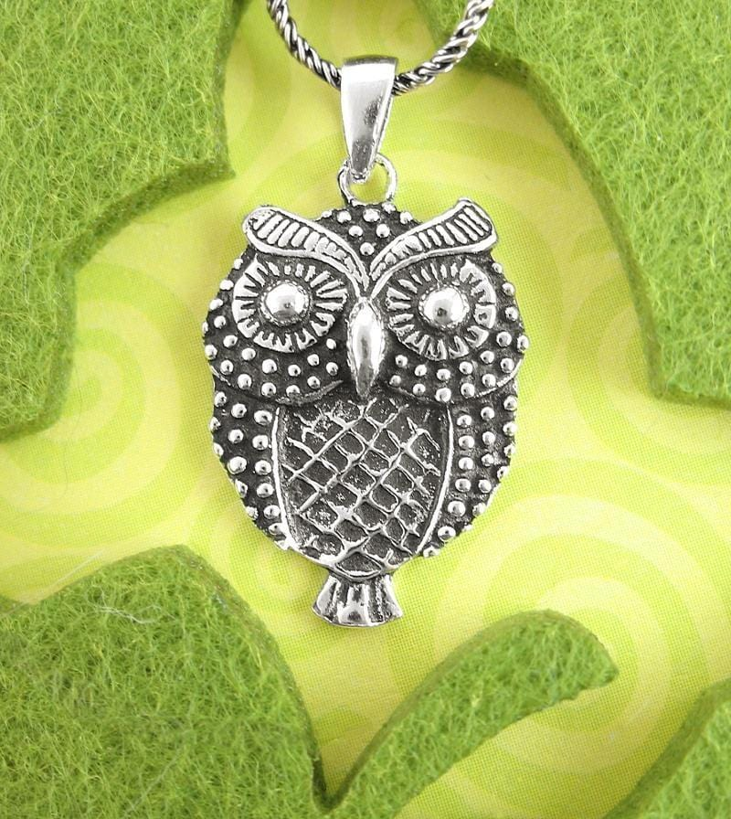 Ornamental Big-Eyed Owl Necklace | woot & hammy thoughtful jewelry