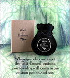 Book of Shadows With Triple Crescent Moon Locket Pendant | woot & hammy thoughtful jewelry