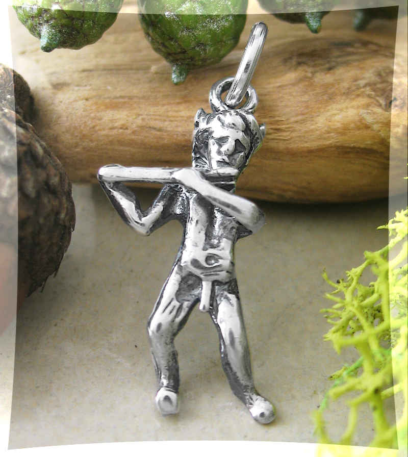 Flute-Playing Pastoral God Pan Charm / Pendant | Woot & Hammy