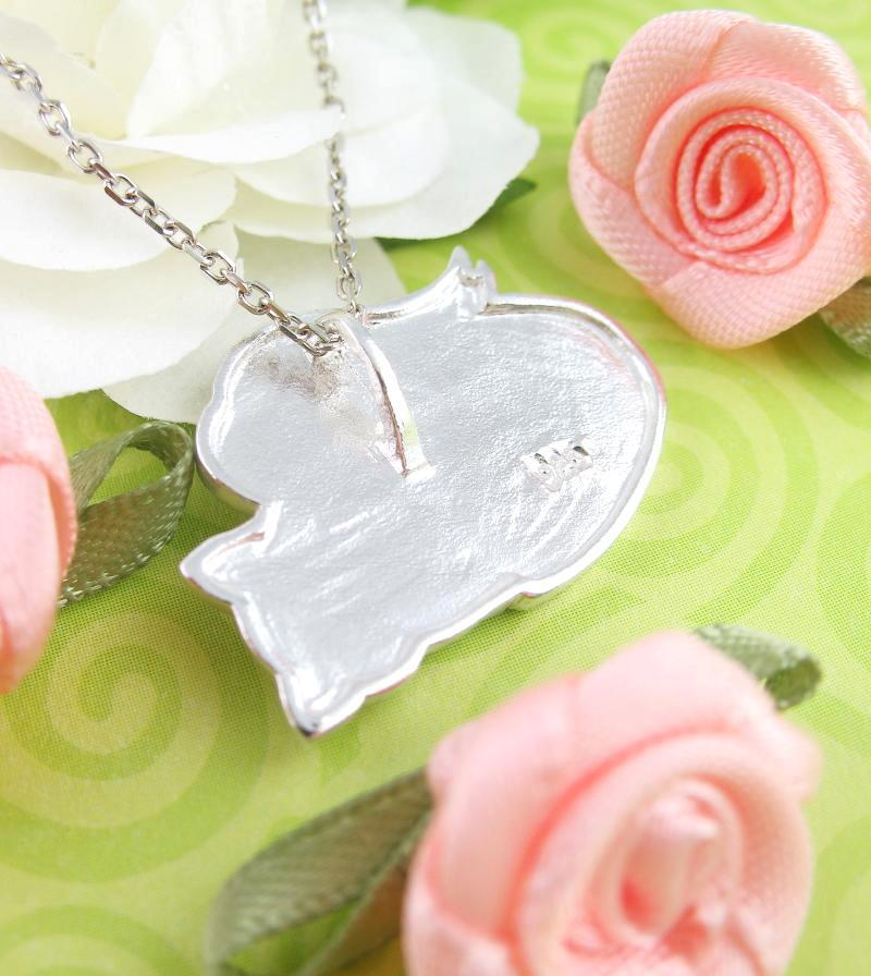 Peaceful Sleeping Kitty Angel Necklace - woot & hammy