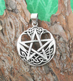Pentacle With Upturned Celtic Crescent Moon Pendant | woot & hammy