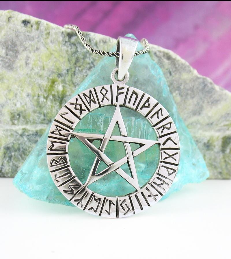 Runic Pentacle Necklace Sterling Silver | woot & hammy thoughtful jewelry