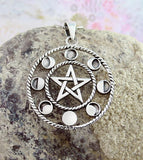 Pentacle With Phases of the Moon Pendant