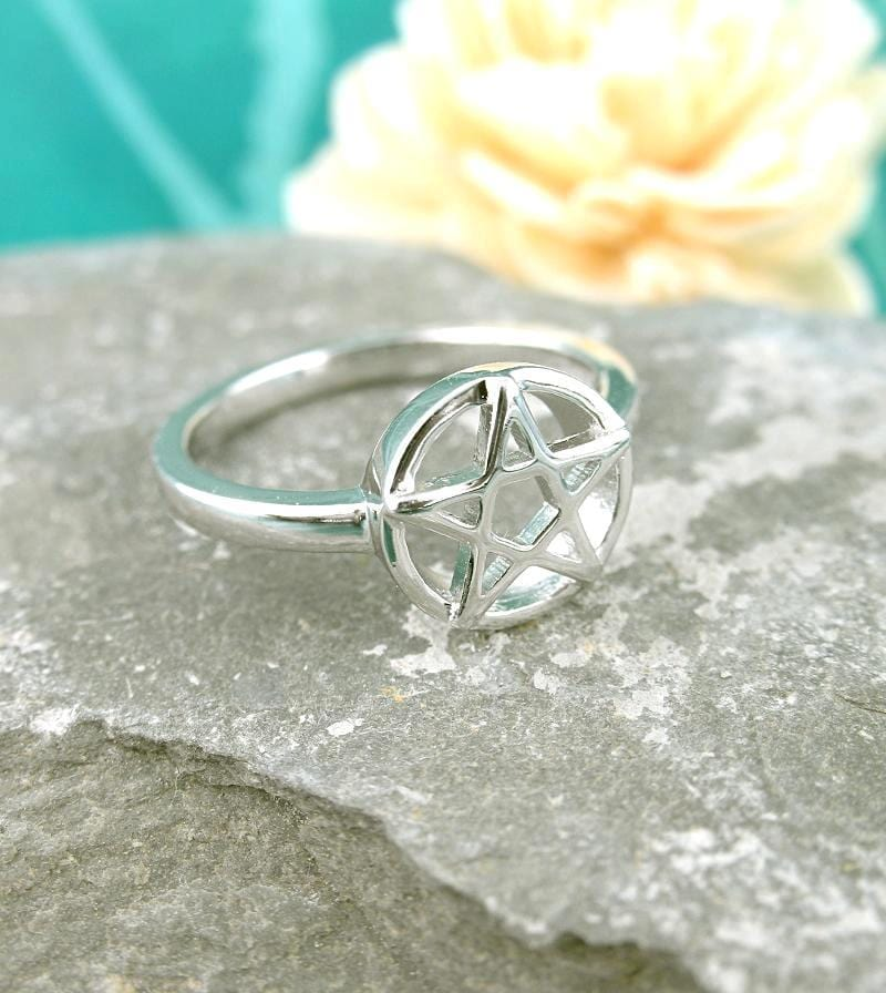 Forthright Pentacle / Pentagram Ring | woot & hammy thoughtful jewelry