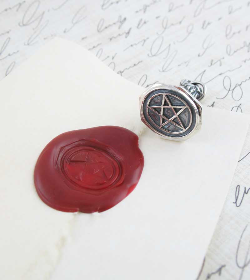 Ornate Pentacle Sealing Wax Stamp Pendant
