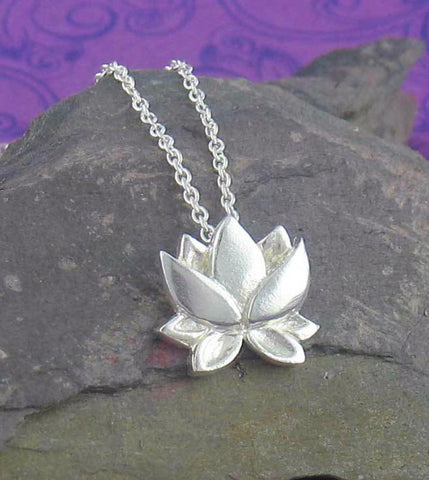 Small and Bright Lotus Necklace - woot & hammy