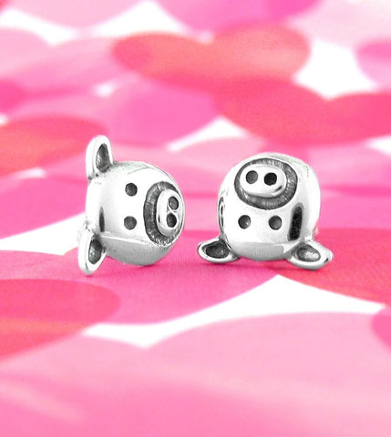 Silly Pig Face Earrings - woot & hammy