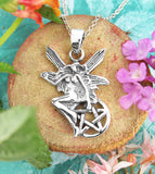 Fairy Alighting On Pentacle Pendant