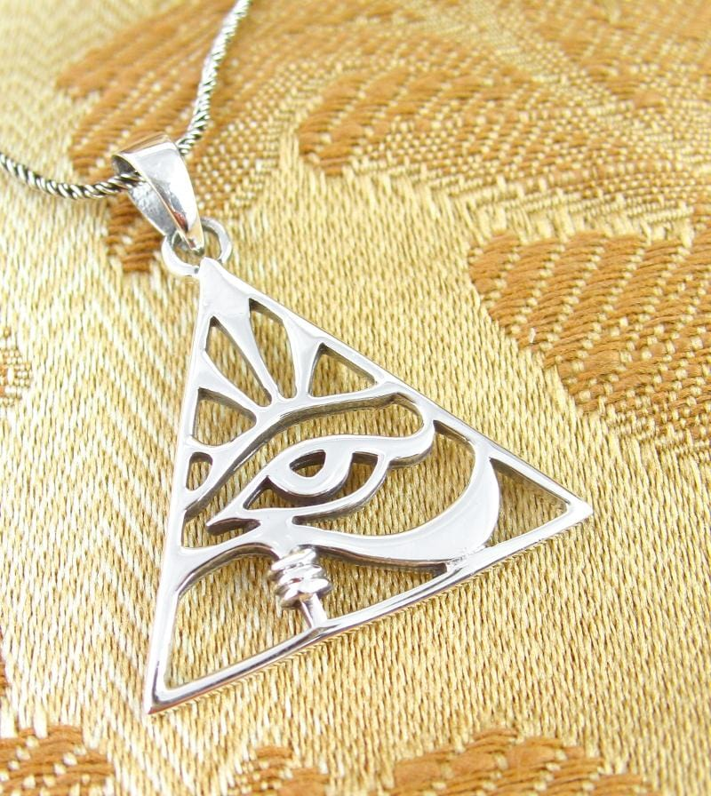 Eye of Horus Necklace in Pyramid-Shaped Frame | woot & hammy thoughtful jewelry