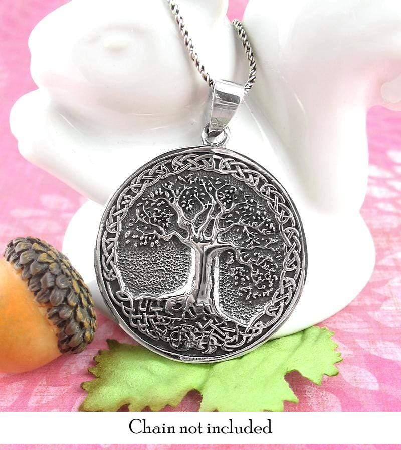 Richly Detailed Tree of Life Medallion Necklace - woot & hammy