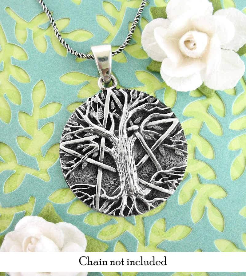 Rustic Woodsy Tree of Life Pentacle Necklace | woot & hammy thoughtful jewelry