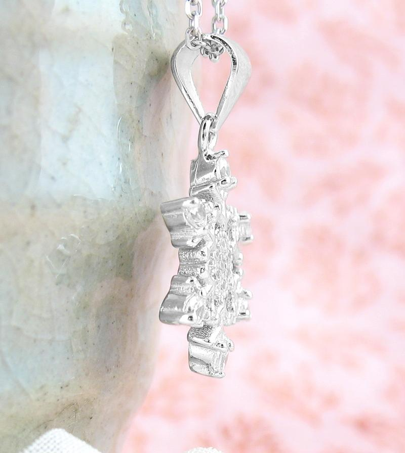 Six-Pointed Snowflake Necklace with CZ Crystals | woot & hammy thoughtful jewelry