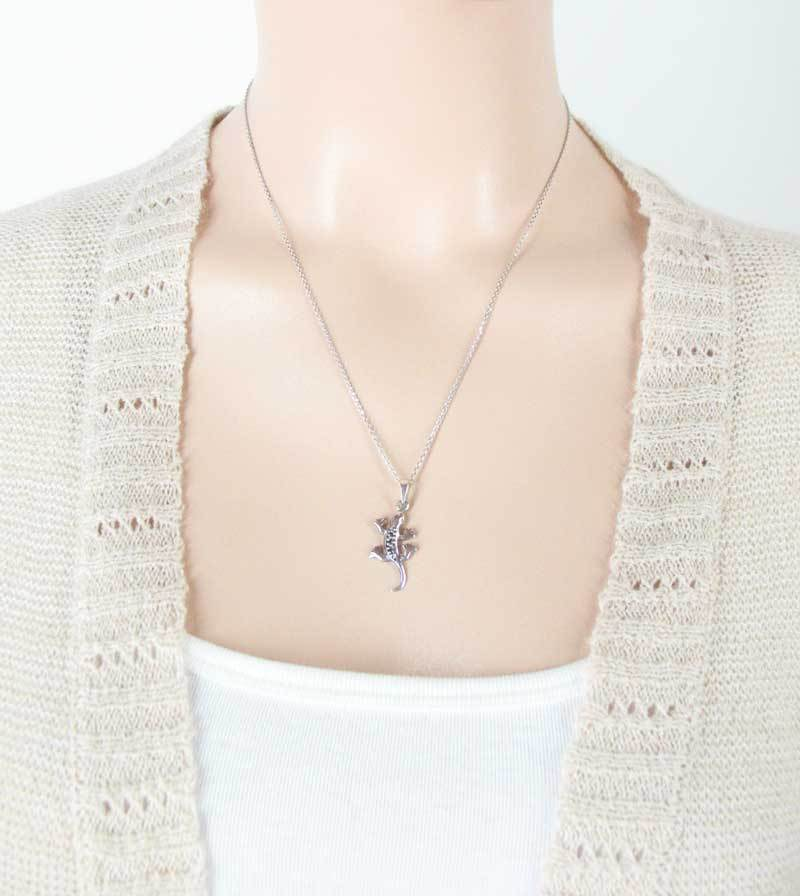 Little Speckled Gecko Necklace