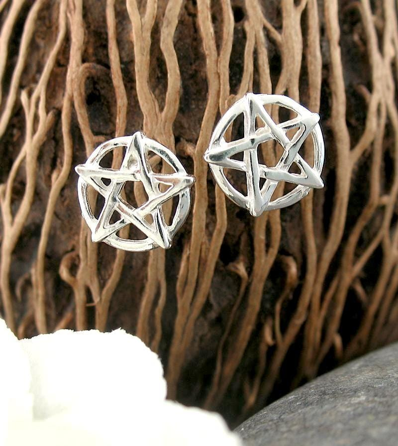 Little Pentacle Earrings - woot & hammy