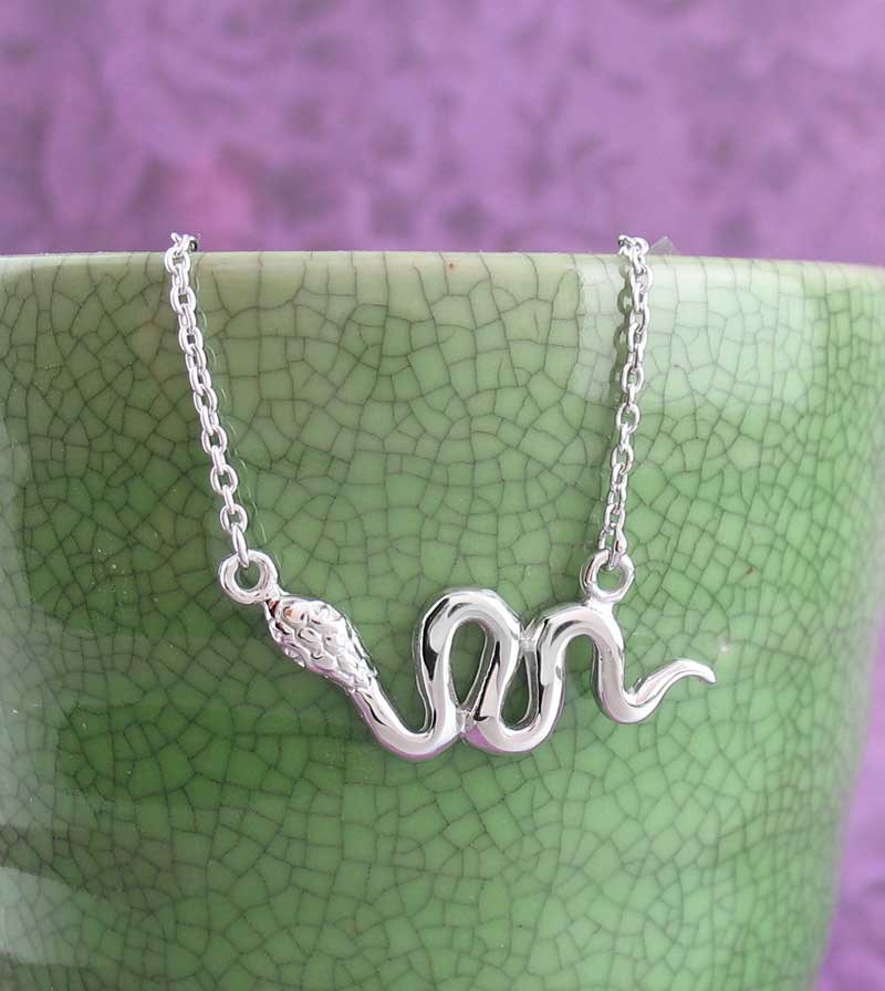 Sinuous Horizontal Snake Necklace