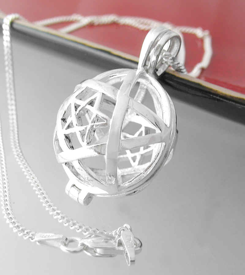 Pentagram Within A Pentagram Locket Pendant | woot & hammy