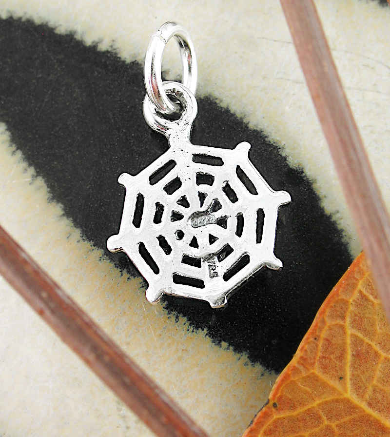 Little Spider and Web Cut-Out Charm | Woot & Hammy